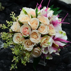 Blooming Round Artificial Silk Bridal Bouquets
