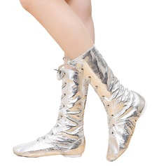 Unisex Leatherette Flats Jazz Dance Boots Dance Shoes