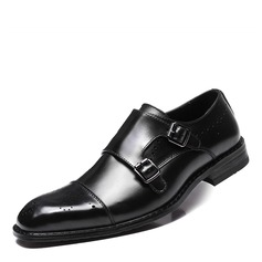 Men's Real Leather Monk-straps Dress Shoes Men's Oxfords (259171634)