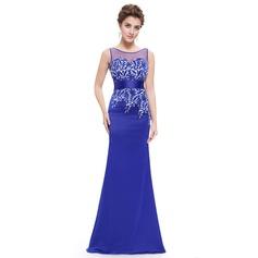 Lace/Satin/Tulle With Applique Maxi Dress (199091354)