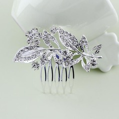 Ladies Charming Alloy Combs & Barrettes With Rhinestone (Sold in single piece)