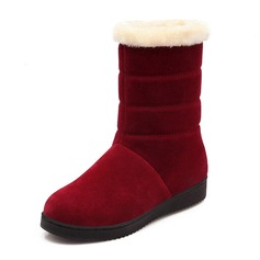 Women's Suede Flat Heel Flats Closed Toe Wedges Boots Ankle Boots shoes