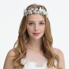 Ladies Glamourous Rhinestone/Alloy/Imitation Pearls Headbands With Rhinestone/Venetian Pearl (Sold in single piece)