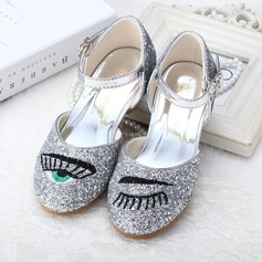 Girl's Sparkling Glitter Low Heel Pumps