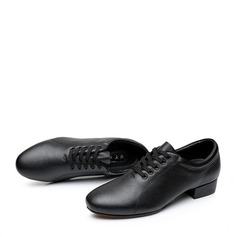 Men's Real Leather Latin Modern Practice Dance Shoes