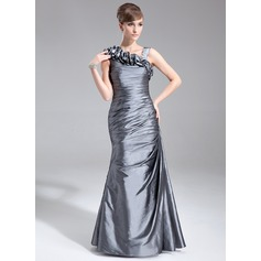 Trumpet/Mermaid Floor-Length Taffeta Mother of the Bride Dress With Ruffle