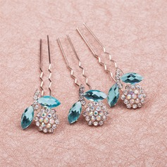 Unique/Eye-catching Rhinestone/Alloy Hairpins(Set of 6)