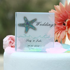 Personalized Starfish Crystal Cake Topper