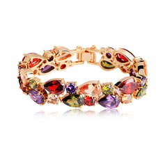 Beautiful Zircon/Rose Gold Plated Ladies' Bracelets
