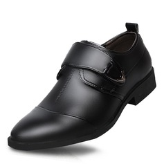 Men's Microfiber Leather Monk-straps Dress Shoes Work Men's Oxfords
