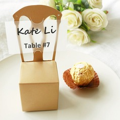 50th Anniversary Gold Chair Favor Box and Place Card Holder