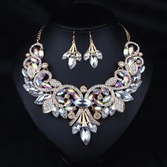 Beautiful Alloy Rhinestones Resin With Rhinestone Ladies' Jewelry Sets (137122973)