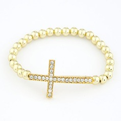 Exquisite Plastic With Imitation Pearl Ladies' Fashion Bracelets