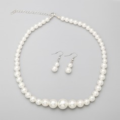 Classic Alloy With Imitation Pearls Ladies' Jewelry Sets