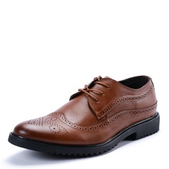 Men's Microfiber Leather Lace-up Brogue Dress Shoes Work Men's Oxfords