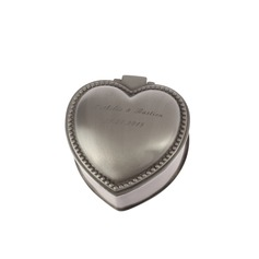 Personalized Heart-shaped Tins Jewelry Holders