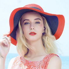 Ladies' Fashion/Elegant Polyester Straw Hat/Beach/Sun Hats