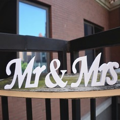"Simple/Classic/""Mr. & Mrs."" Lovely/Elegant PVC Wedding Ornaments"