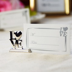 Love Design Chrome Place Card Holders