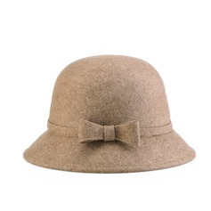 Ladies' Charming Wool Bowler/Cloche Hat