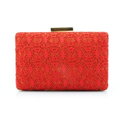 Classical Lace/Sparkling Glitter Clutches/Wristlets