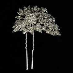 Beautiful Alloy/Freshwater Pearl Hairpins (Sold in single piece)