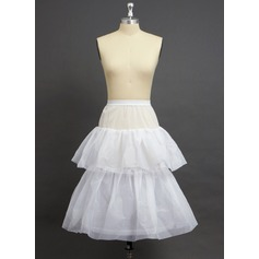 Girls Nylon/Tulle Netting Knee-length 2 Tiers Petticoats