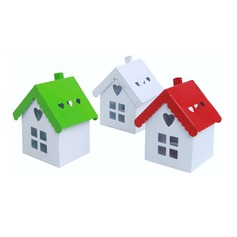 Cute House Shaped Metal Favor Boxes
