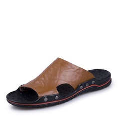 Men's Real Leather Casual Men's Slippers