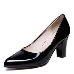 Donna Pelle verniciata Tacco a spillo Stiletto Punta chiusa con Altrui scarpe