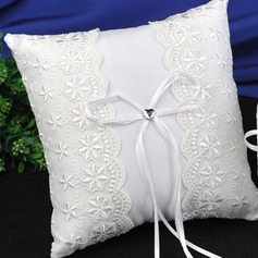 Elegant Ring Pillow in Satin/Lace/Polyester With Bow