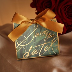 Sweet Love/Classic Other Card Paper Favor Boxes With Ribbons