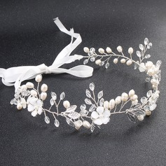 Ladies Exquisite Alloy Headbands With Venetian Pearl