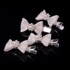 Lovely/Bowknot Alloy/Metal Combs & Barrettes (Set of 4)