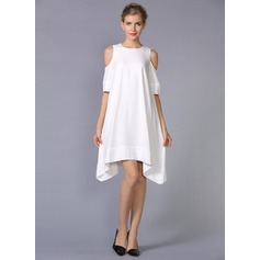 Polyester/Crepe With Plain Above Knee Dress (199086975)