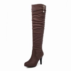 Suede Stiletto Heel Platform Over The Knee Boots shoes