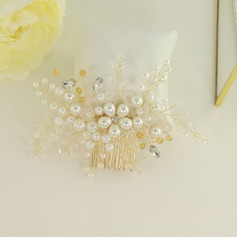 Glamourous Alloy Combs & Barrettes With Venetian Pearl (Sold in single piece)