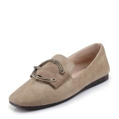 Donna Camoscio Senza tacco Ballerine con Fibbia scarpe