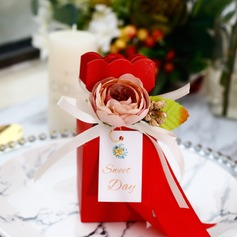 Sweet Love Other Card Paper Favor Boxes With Flowers
