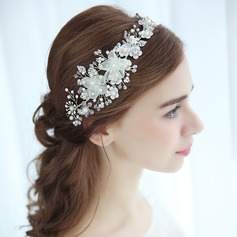 Ladies Eye-catching Alloy Headbands With Venetian Pearl (Sold in single piece)