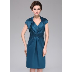 Short Sleeve Satin Special Occasion Wrap