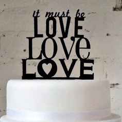 Letter It Must Be Love Acrylic Wedding Cake Topper/Bridal Shower Cake Topper