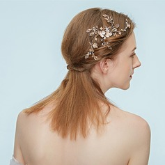 Ladies High Quality Alloy Headbands With Rhinestone/Venetian Pearl (Sold in single piece)