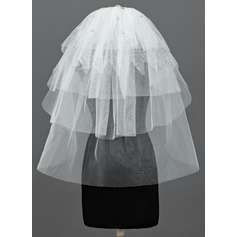 Five-tier Elbow Bridal Veils With Cut Edge