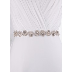 Stylish Satin Sash With Rhinestones