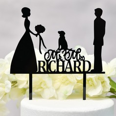 Personalized Mr. & Mrs./Love Is Sweet Acrylic Cake Topper (Sold in a single piece)