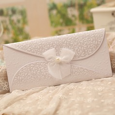 Classic Style Tri-Fold Invitation Cards With Bows  (114091449)