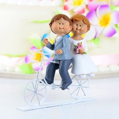 """Cycling You Forever"" Resin Wedding Cake Topper"