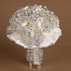 Elegant Round Cloth Bridal Bouquets