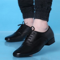 Men's Real Leather Latin Modern Dance Shoes